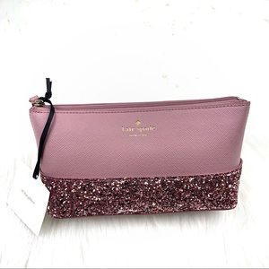 Kate Spade Pink All That Glitters Cosmetics Bag